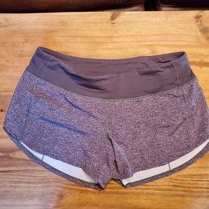 EUC Lululemon Speed Up Shorts Heathered Gray 8